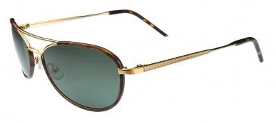Hackett Sunglasses HSB 081 14P Brown Horn Gold
